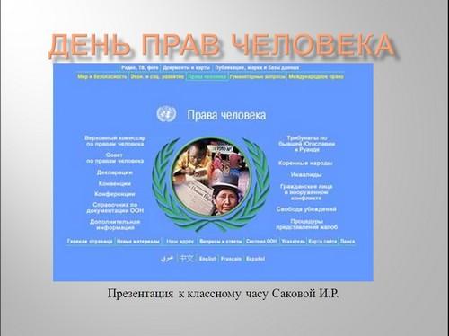 презентация день прав человека