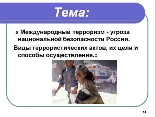 виды террористической деятельности презентация