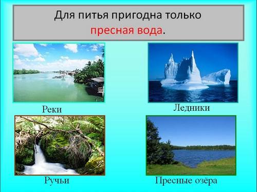 презентация 2 класс окр мир водные богатства