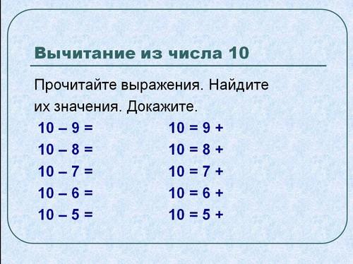 знакомство состава числа из единиц