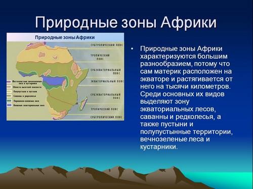 Презентацию на тему материк африка 4 класс